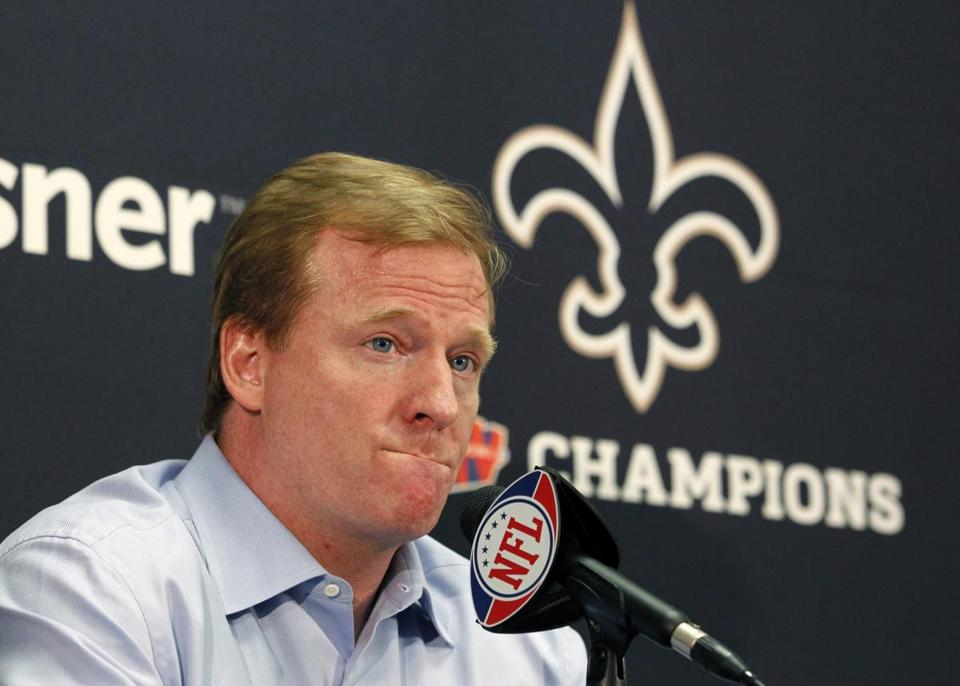 Roger Goodell suspended Saints coach Sean Payton for one year.