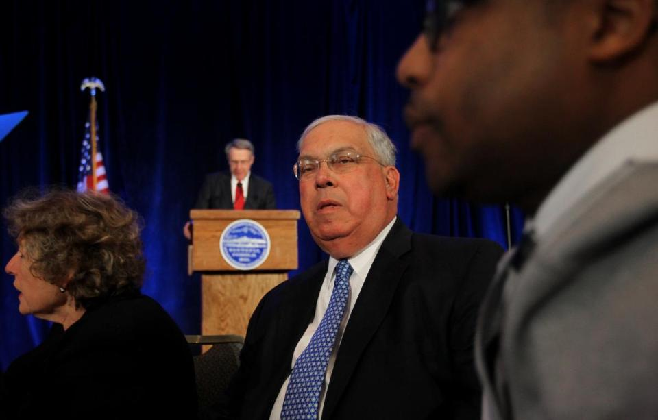 In a speech Tuesday at the Boston Municipal Research Bureau, Mayor Thomas M. Menino said the stalled talks hurts schools.