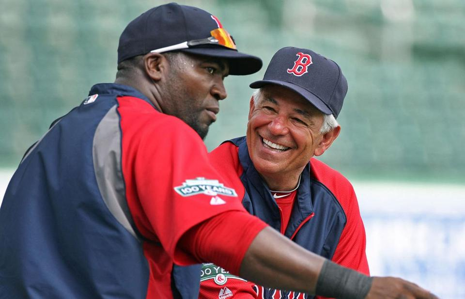 David Ortiz and Bobby Valentine talk last spring; this spring Ortiz ripped the now ex-Sox skipper.