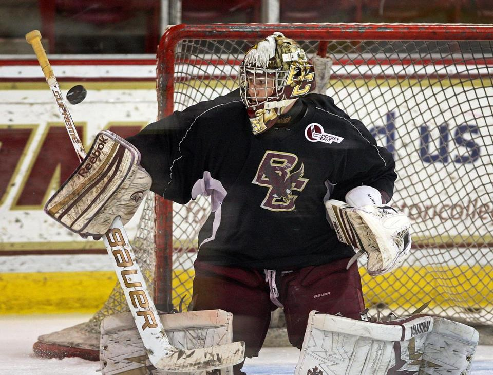 BC's Parker Milner rebounded from a rough patch to lead the Eagles to the Frozen Four.