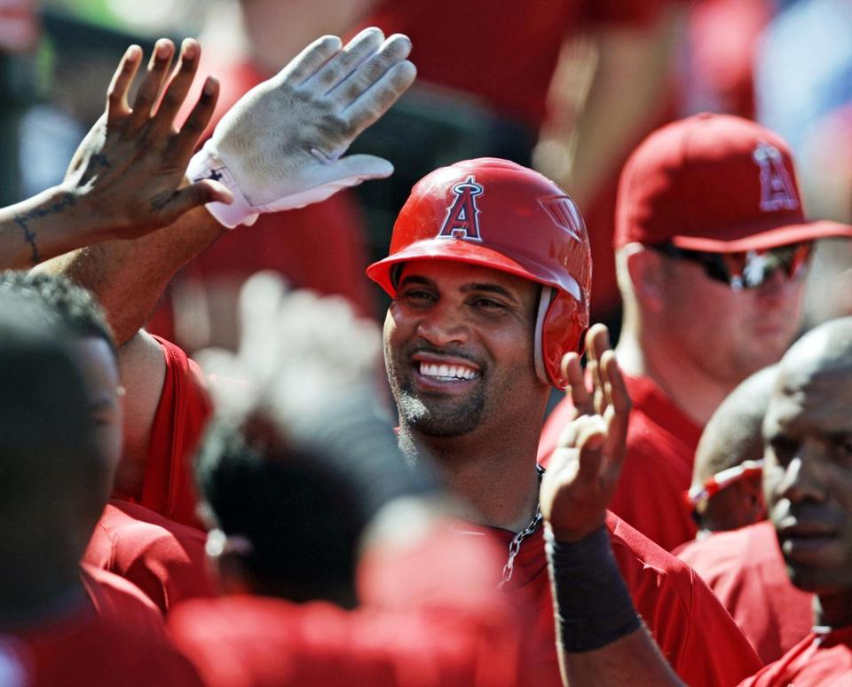 Albert Pujols could inject live into the Angels' playoff hopes.