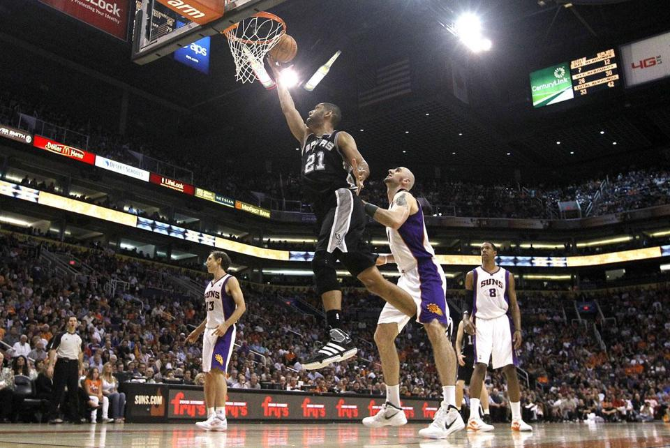 Like the Celtics, the Spurs are defying the odds despite the advanced age of one-time franchise player Tim Duncan, who has slowed down but remains effective.