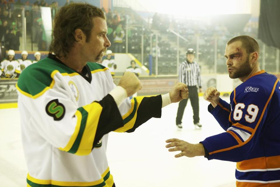 "Liev Schreiber (left) and Seann William Scott in ""Goon."""