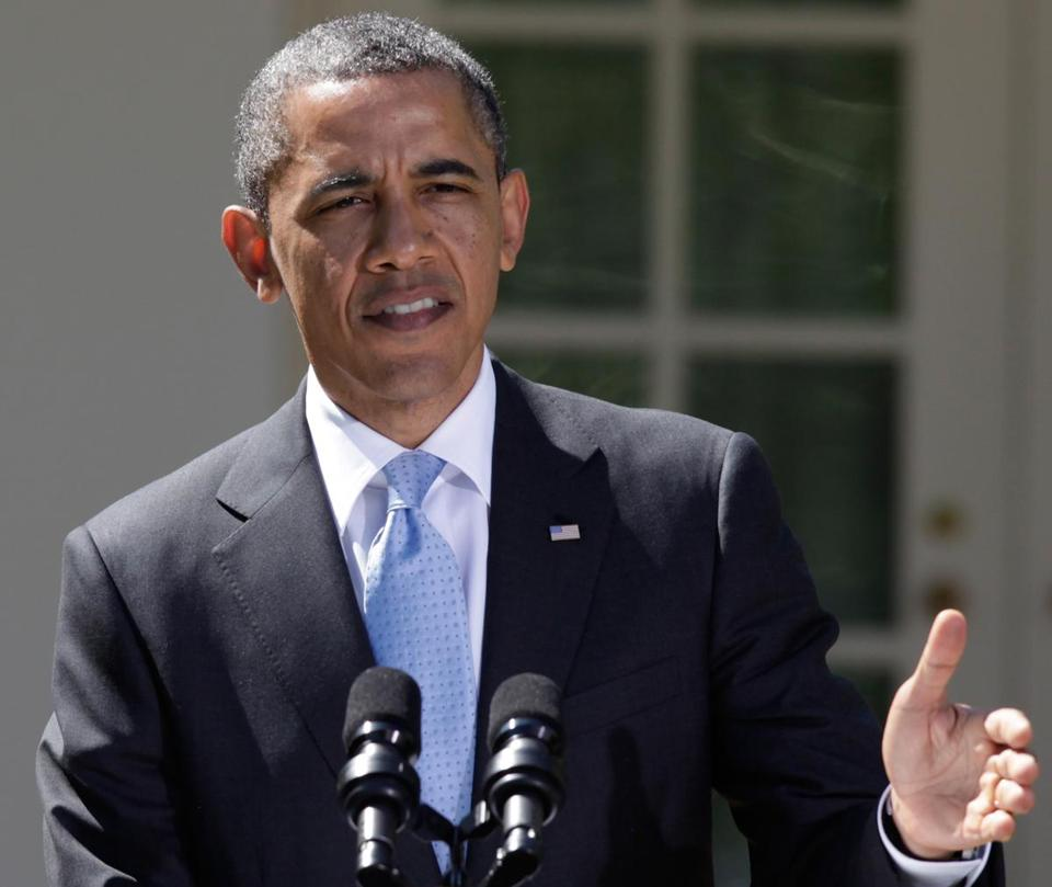 President Barack Obama spoke at a news conference in the Rose Garden of the White House on Monday.