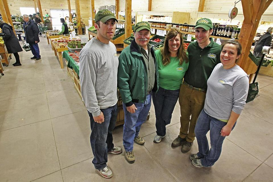 The Volantes — (from left) ­Dave, his parents, Al and Melodie, his siblings, Steve and Teri — are all involved with the 95-year-old farm.
