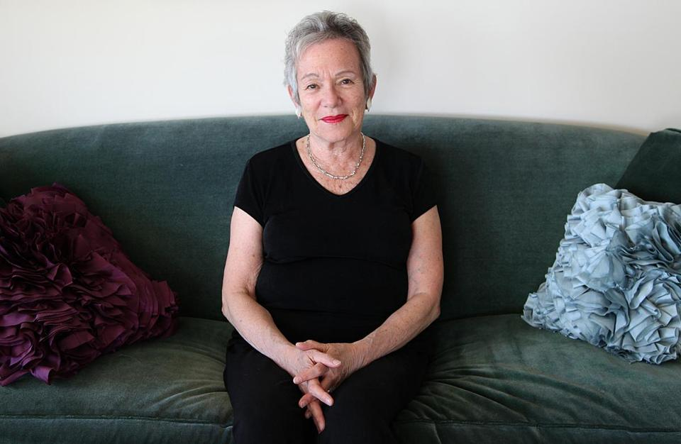 "Edith Pearlman, here in her Brookline home, has published more than 250 short stories. Her latest collection is ""Binocular Vision.''"