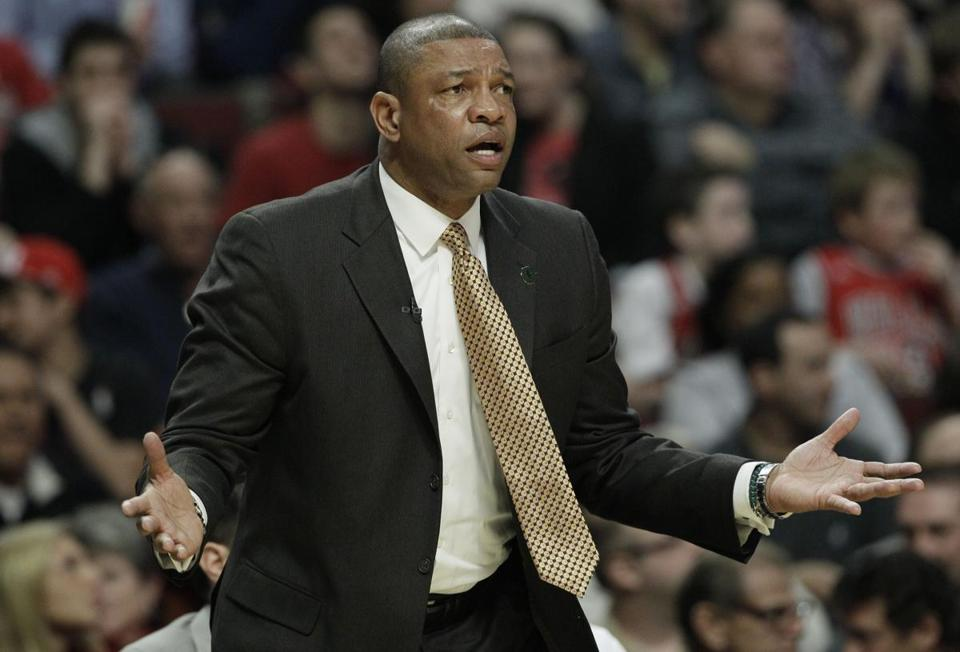 Doc Rivers (left) made pointed comments about the Celtics' lack of effort in Chicago.