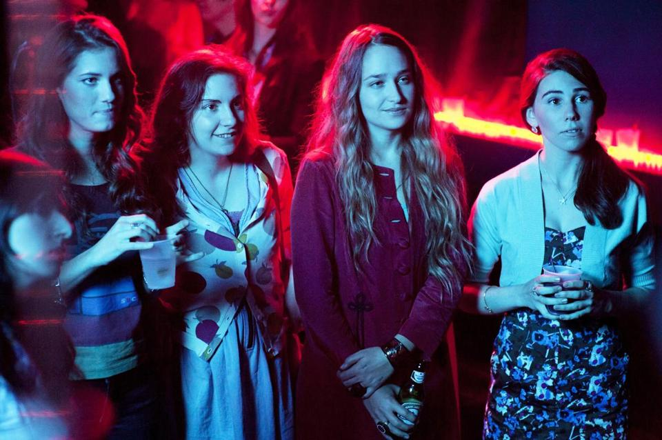 From left: Lena Dunham, Allison Williams, Jemima Kirke, and Zosia Mamet.