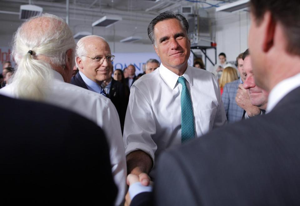 As Mitt Romney met audience members in a campaign stop at Alpha Graphics in Hartford Wednesday, some GOP conservatives shifted their efforts to congressional races.