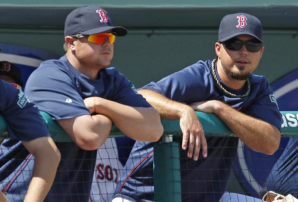 Josh Beckett, right, and Jon Lester did not produce a win for the Red Sox on their season-opening six-game road trip.