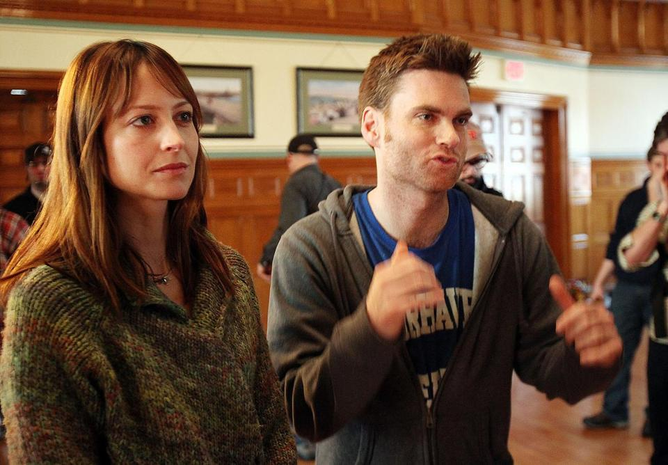 "Among the movies to screen at the Independent Film Festival Boston will be ""Fairhaven"" by Medford native Tom O'Brien (at left, with actress Alexie Gilmore)."