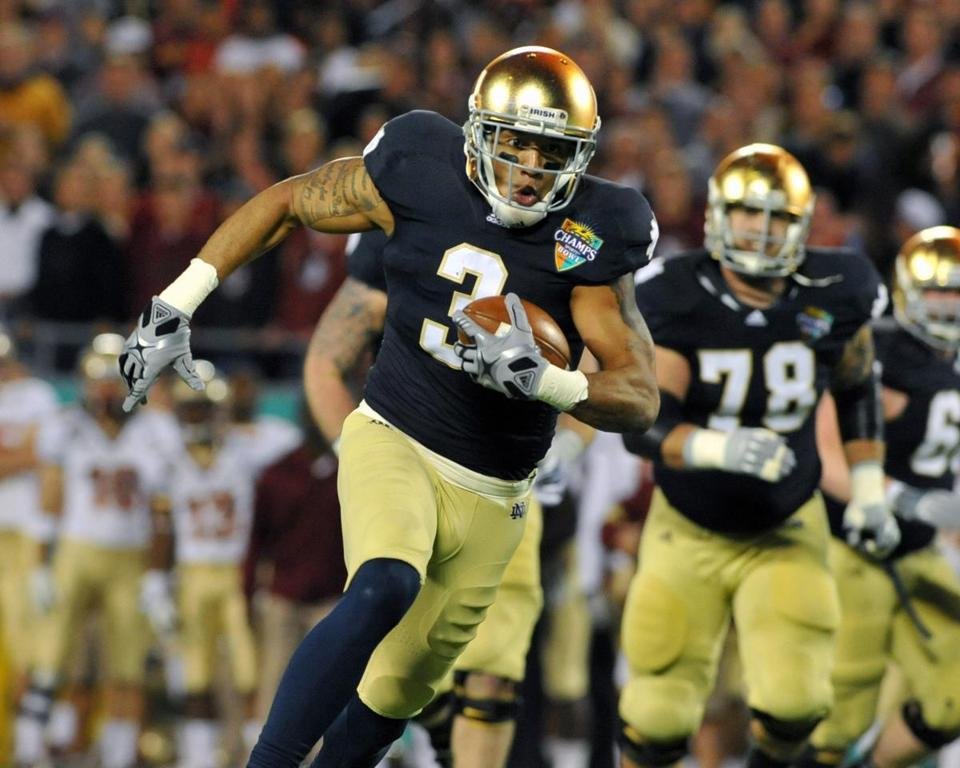 Michael Floyd became Notre Dame's all-time leading receiver as a four-year starter.