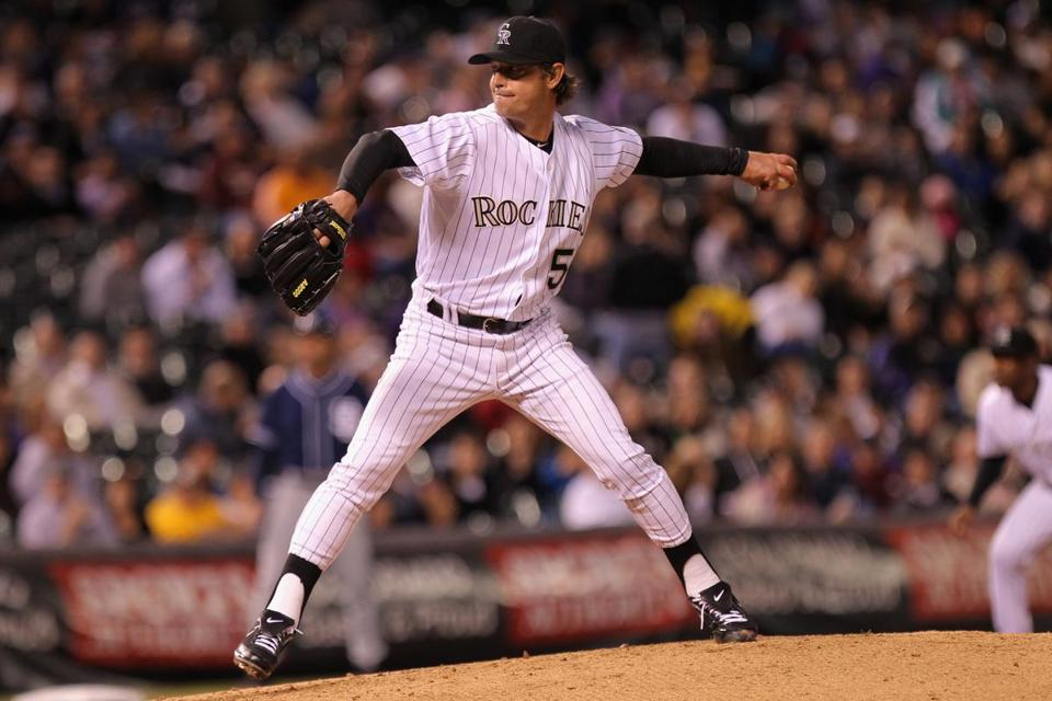 Rockies starting pitcher Jamie Moyer (1-2) was sharp as he picked up his 268th career win, tying him with Hall of Famer Jim Palmer for 34th on the career list.