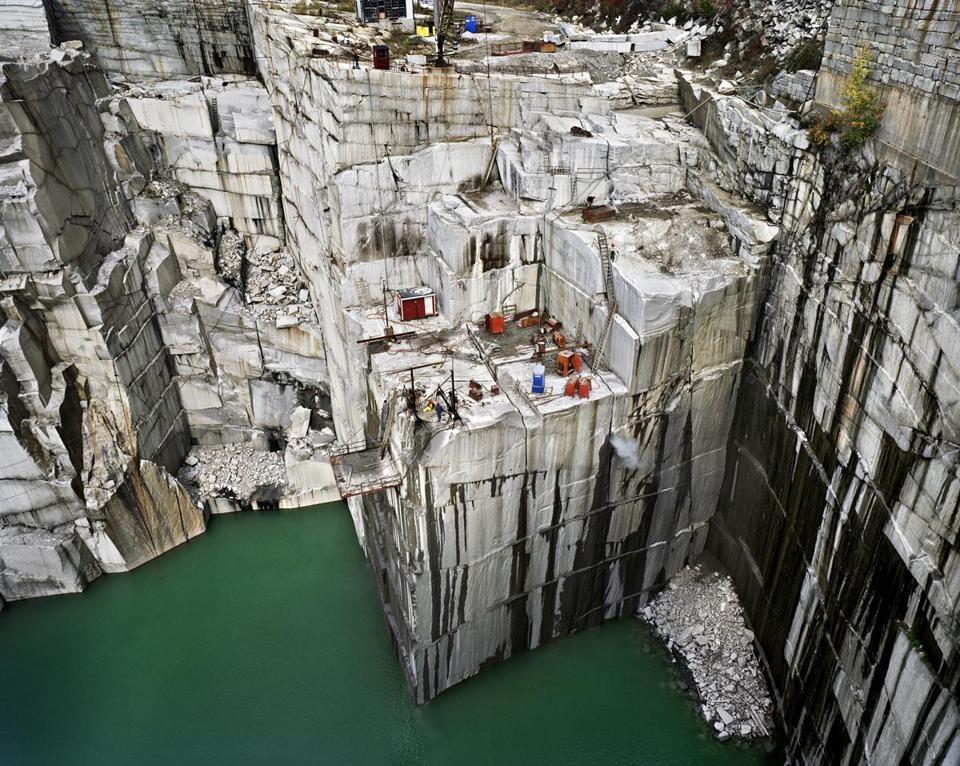 "Edward Burtynsky's ""Rock of Ages #7, Active Granite Section, Wells-Lamson Quarry, Barre, Vermont.''"