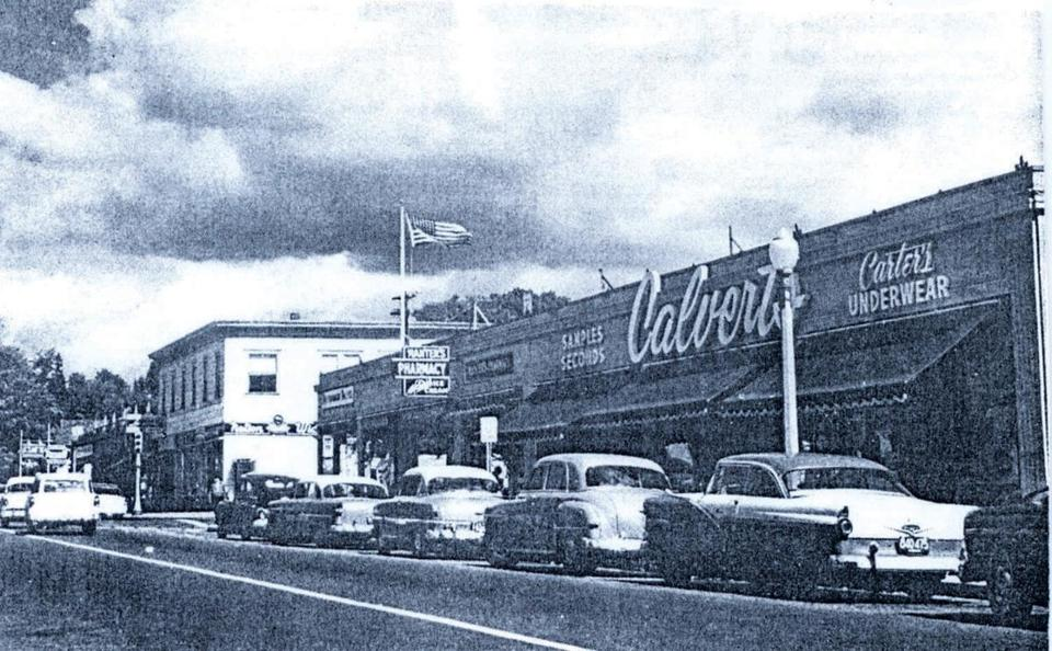 Calvert's on Highland Avenue in Needham Heights (shown in the 1950s) was the community's go-to store for factory-second underwear.