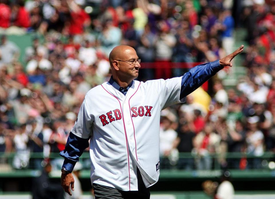 Terry Francona, seen here at the 100th anniversary celebration for Fenway Park in April, could be back in a dugout next season.