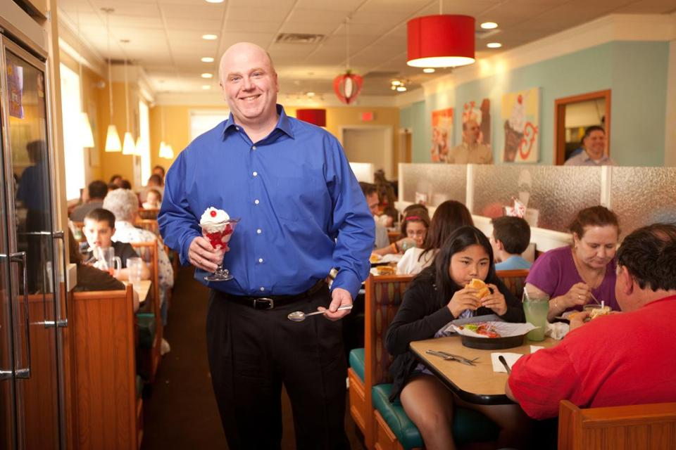 John Maguire, the new Friendly's CEO, grew up in Weymouth and frequented his local Friendly's.