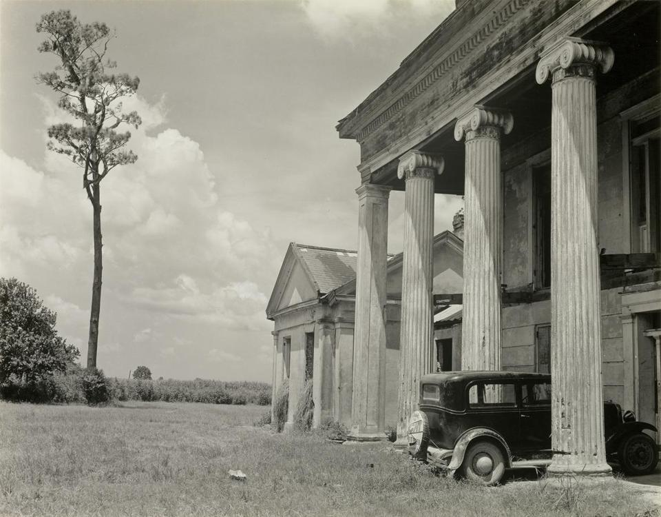 "On the road with Edward Weston: ""Woodlawn Plantation House, Louisiana."""
