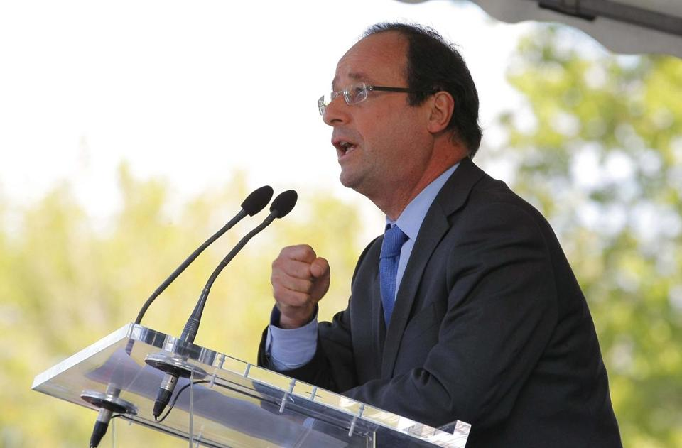 François Hollande is promising to raise spending by $26.3 billion by 2017 if he is elected president of France.