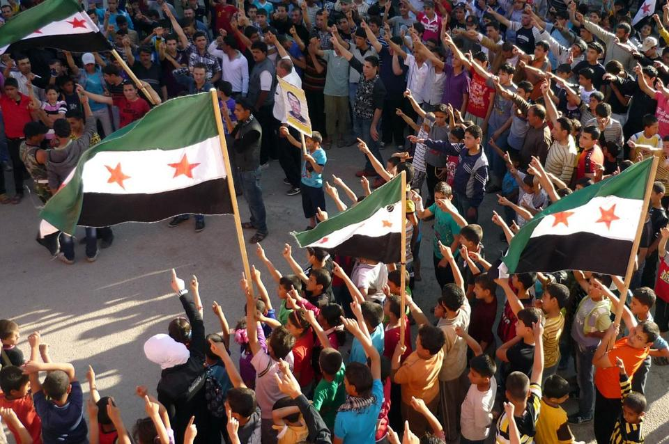 Protesters held a rally against President Bashar Assad in Dael, Syria, near the Jordan border.