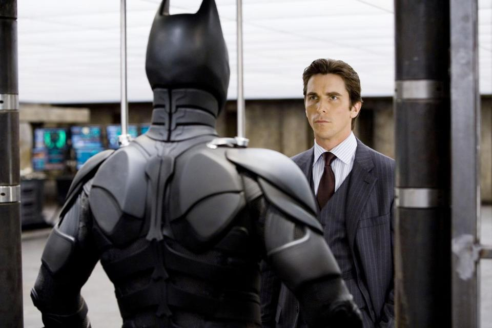 "Christian Bale starred as Bruce Wayne in ""The Dark Knight'' (2008). Director Christopher Nolan's Batman trilogy finishes this summer, but Ty Burr remains superheroically unimpressed, even by such a charismatic actor as Bale."