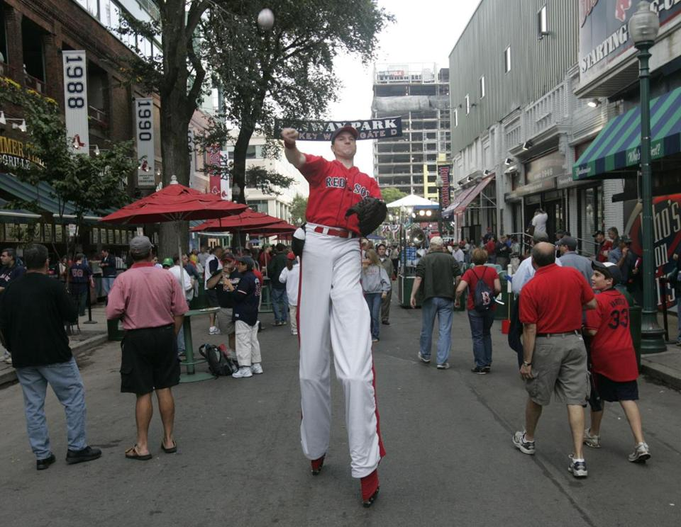 The Red Sox are allowed to use Yawkey Way (above) and Lansdowne Street on game days.