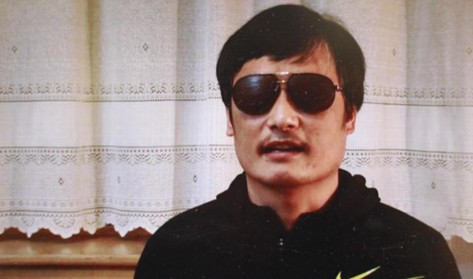 US officials would not comment on unconfirmed reports that Chen Guangcheng (above) had sought protection at the US Embassy in Beijing.