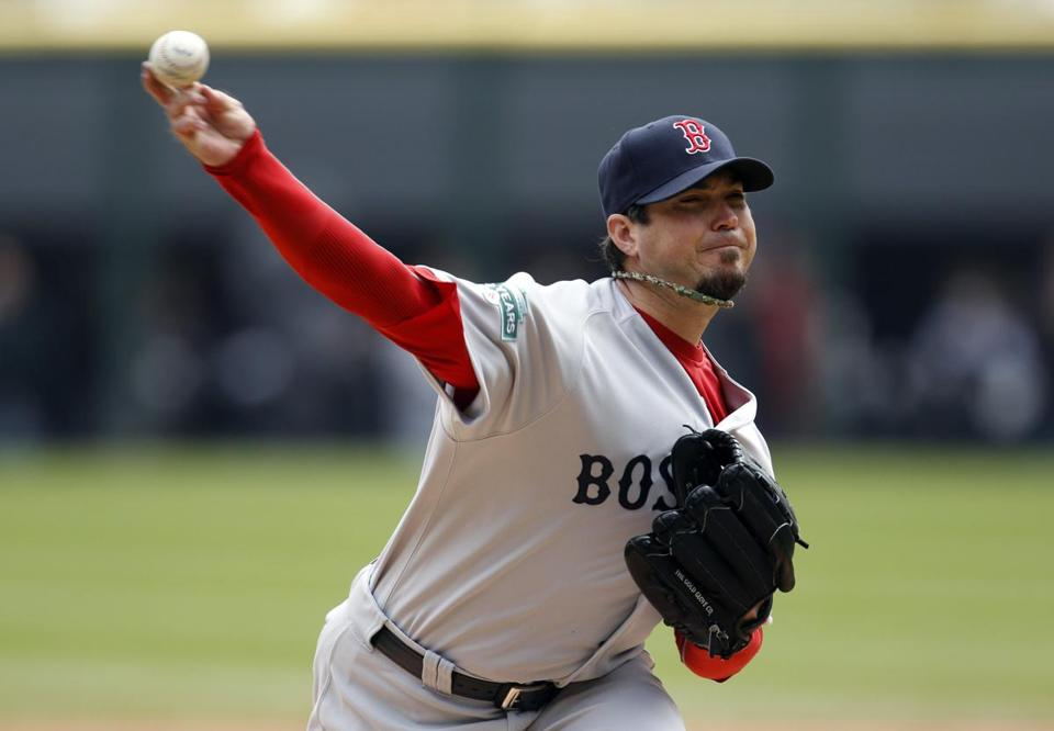 Red Sox starting pitcher Josh Beckett, who has a 2-3 record with a 4.45 earned run average in five starts, last pitched April 29 in Chicago.