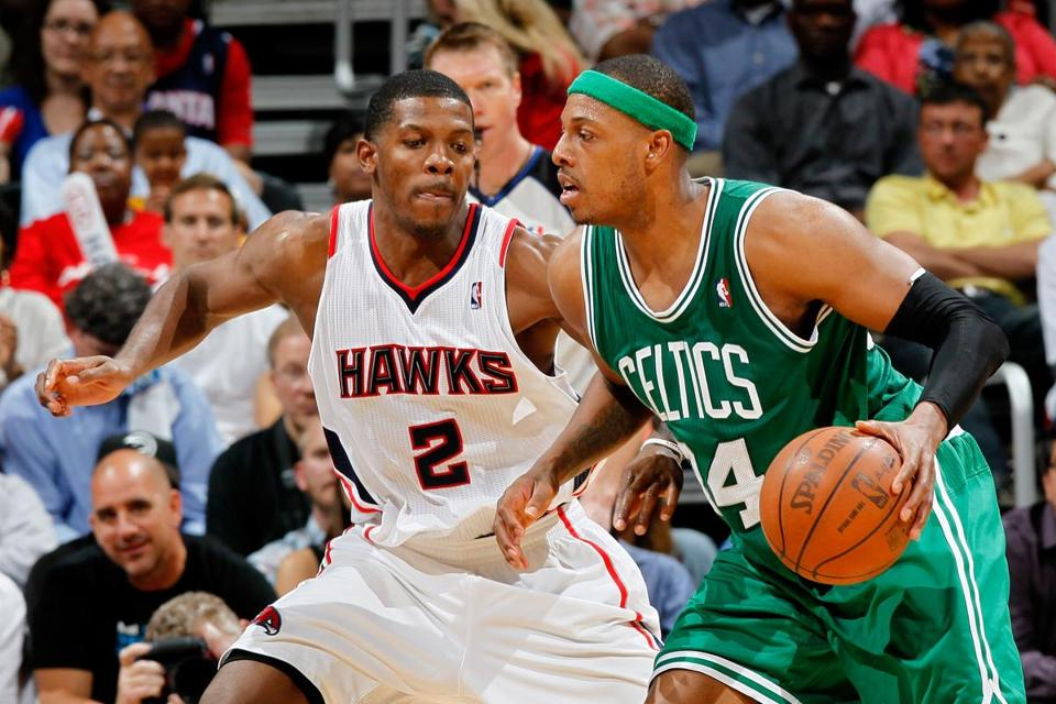 Paul Pierce had 36 points and 14 rebounds in Game 2 against the Hawks.
