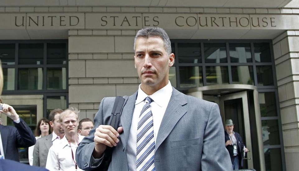 Andy Pettitte exited federal court in Washington after testifying on Wednesday.