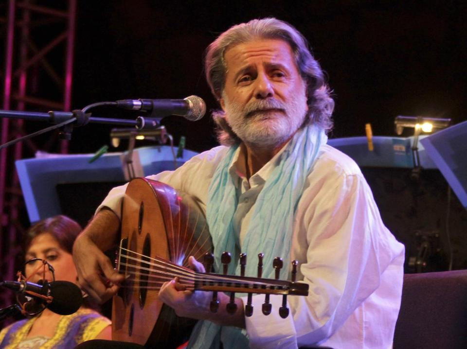 Oud master Marcel Khalifé (performing in Damascus in 2010) is renowned for songs that desire peace and justice.