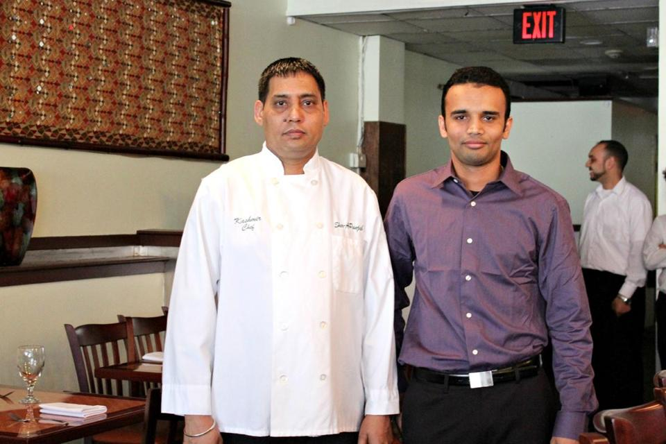 Co-owners Kashmir Singh (left, who is also the chef), and Mandeep Singh.