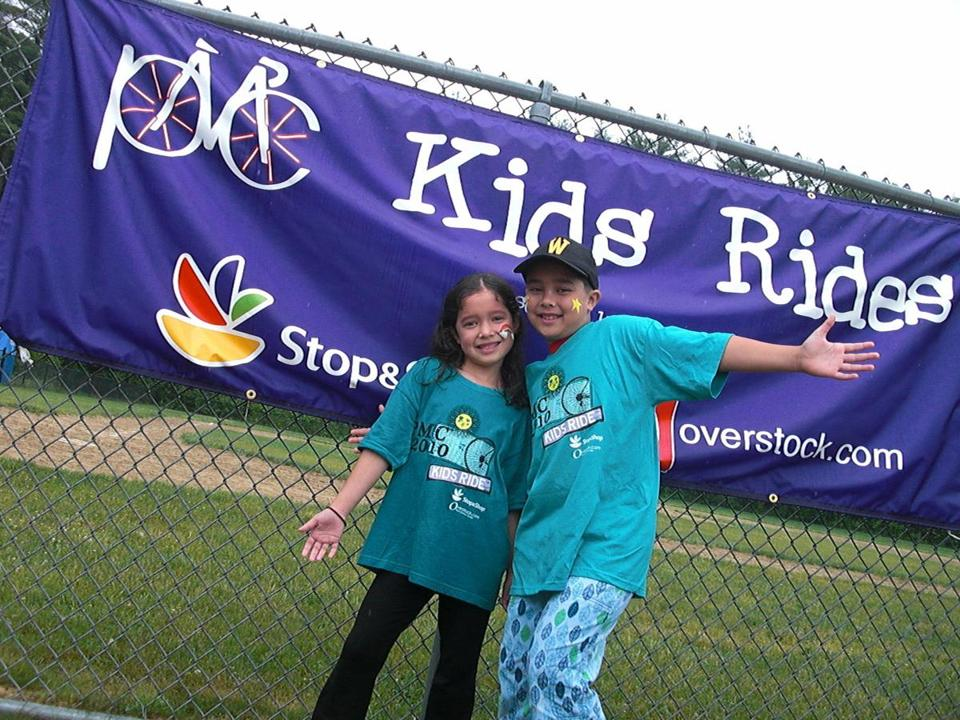 Sophia and Ben Maynard are participating in the PMC Wilmington Kids Ride on Sunday for the fifth year to raise money for cancer care and research.