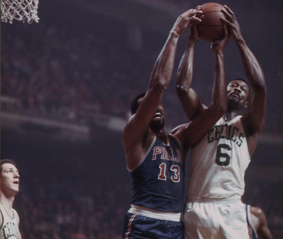 The Celtics-76ers rivalry was perhaps at its best in the 1960s when Bill Russell and Wilt Chamberlain faced off.