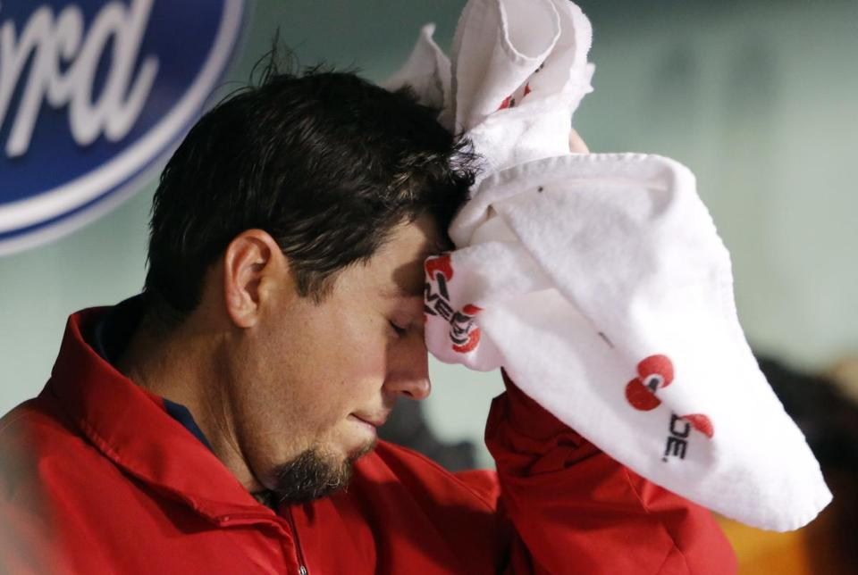 Josh Beckett couldn't get out of the third inning on Thursday.