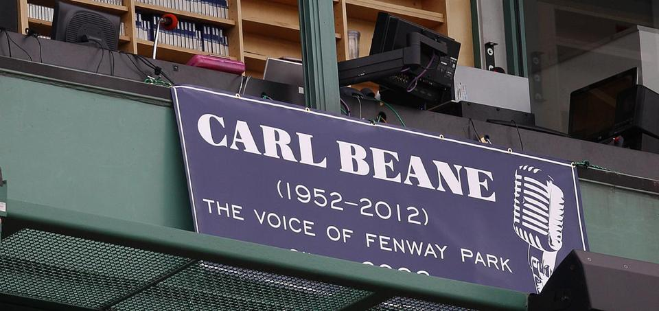The Red Sox PA job has been vacant since Carl Beane's death in early May.
