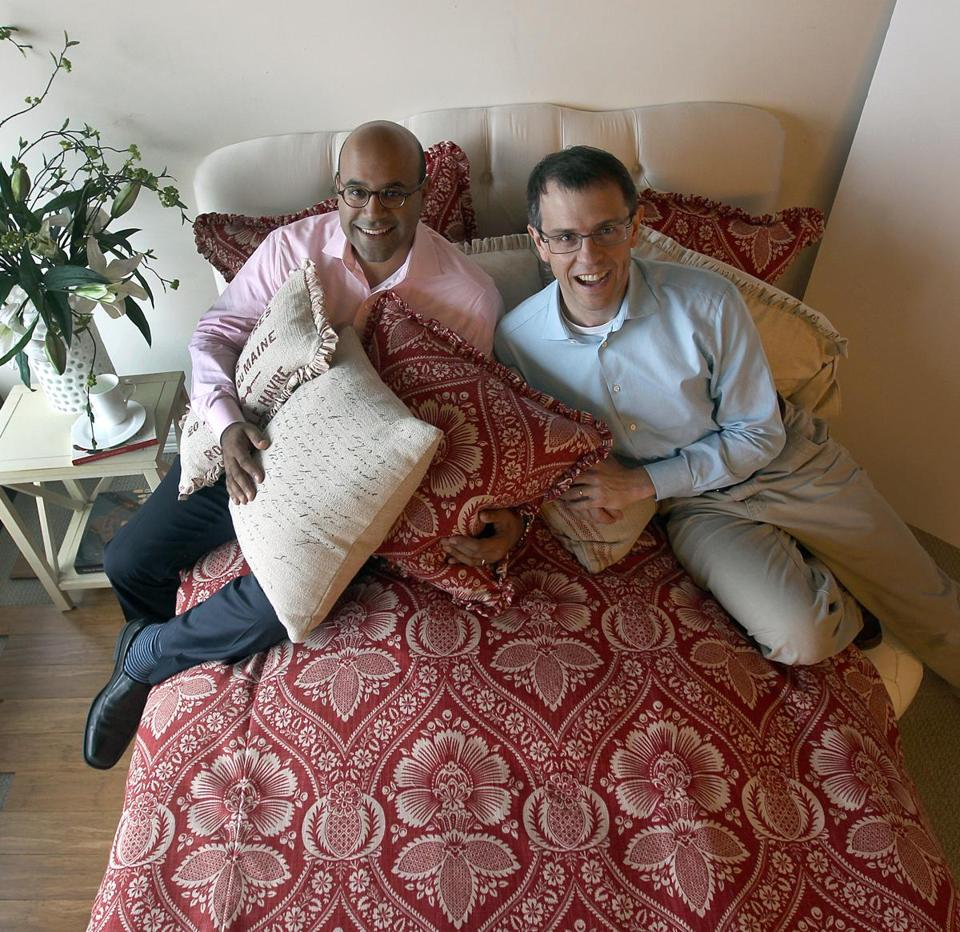 Niraj Shah (left) and Steve Conine founded Wayfair in 2002.