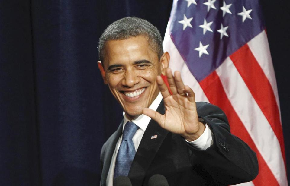 President Obama at a fund-raising event in February.