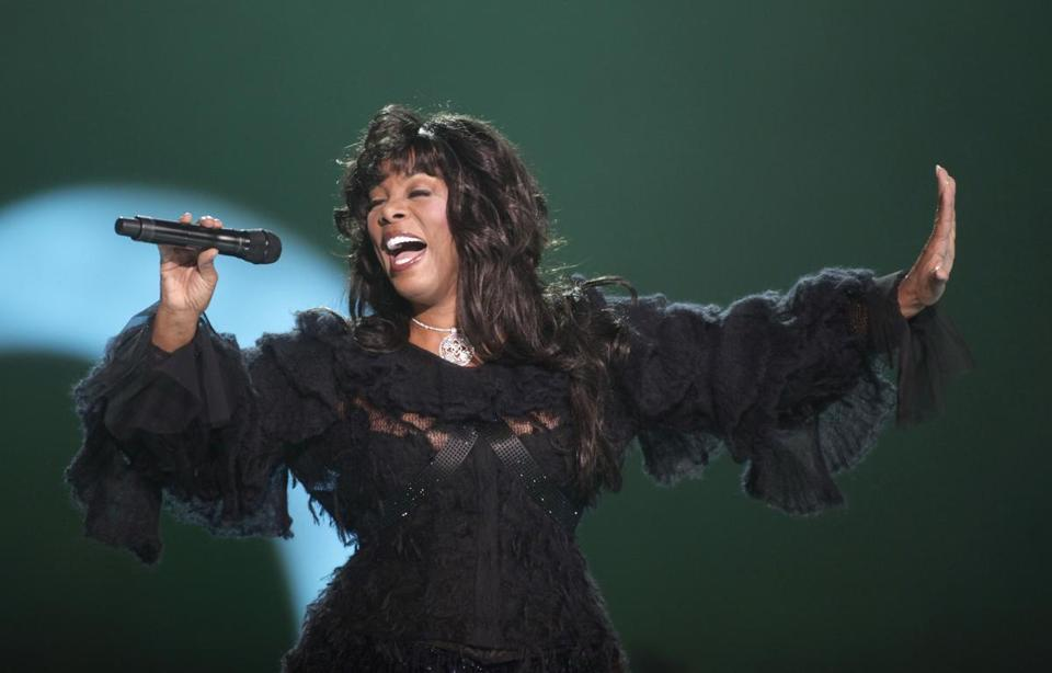 Donna Summer performed at the close of the Nobel Peace concert in Oslo in 2009.