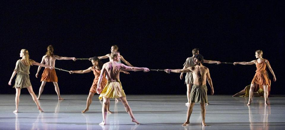 "The Mark Morris Dance Group in ""Socrates."""