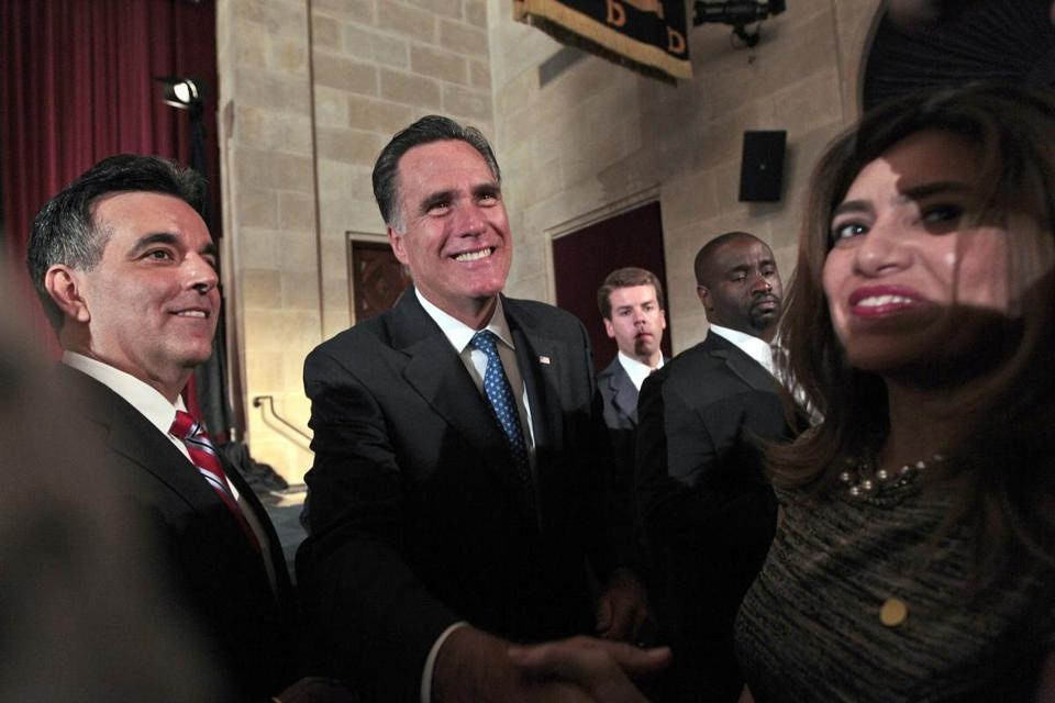 Mitt Romney made his education proposals before the Latino Coalition.