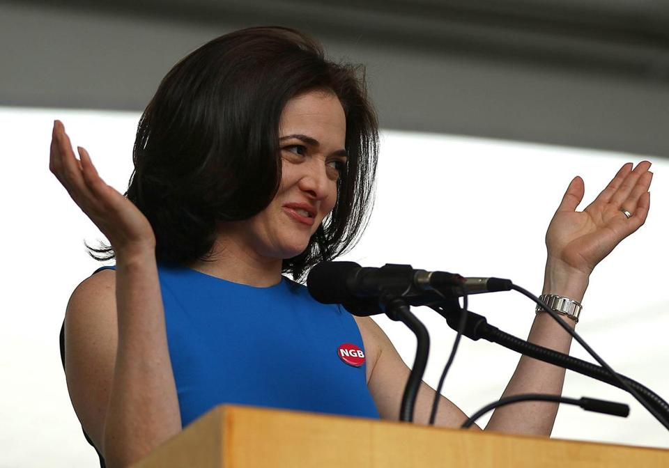 Harvard Business School alumna Sheryl Sandberg, COO of Facebook, spoke at the school's Class Day.