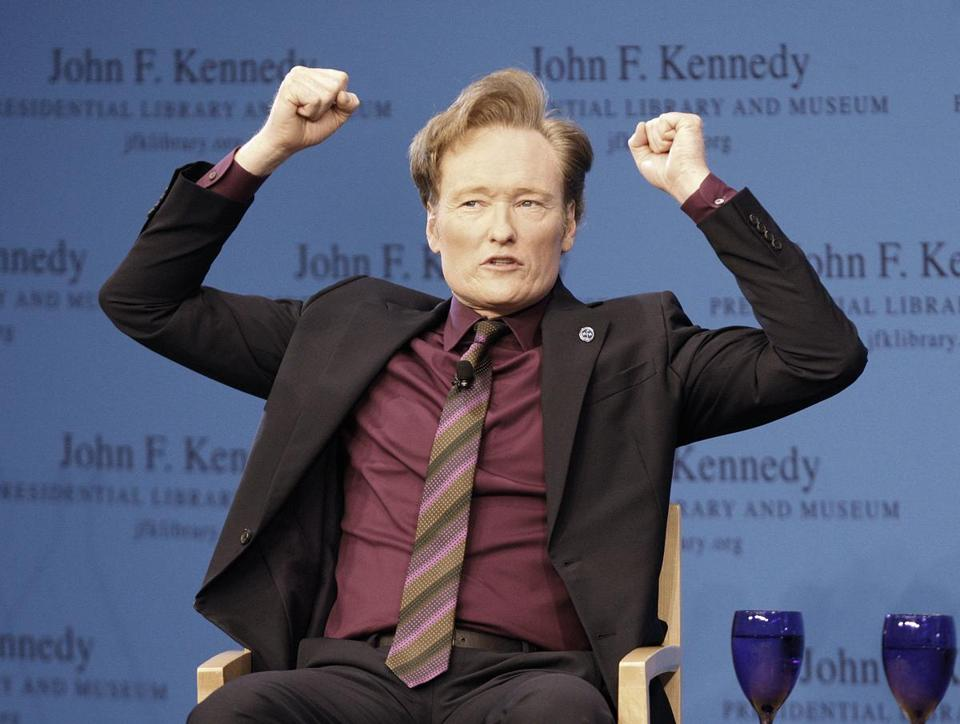 Conan O'Brien discussed his life in comedy at the JFK Library.