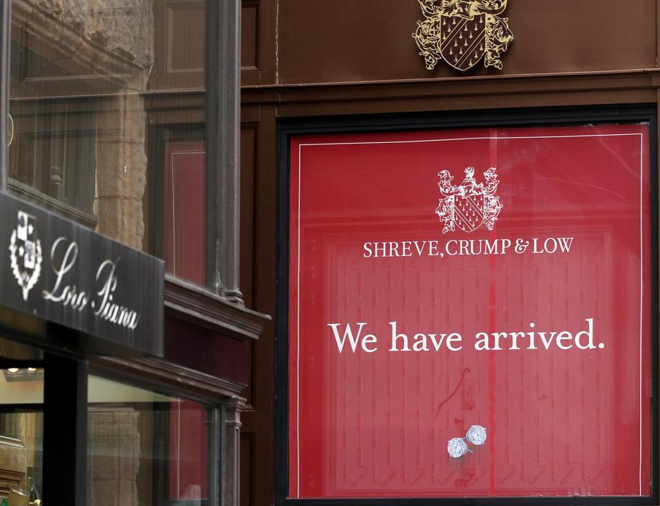 Shreve, Crump & Low moved from Boylston Street to a less expensive shop on Newbury Street this summer.
