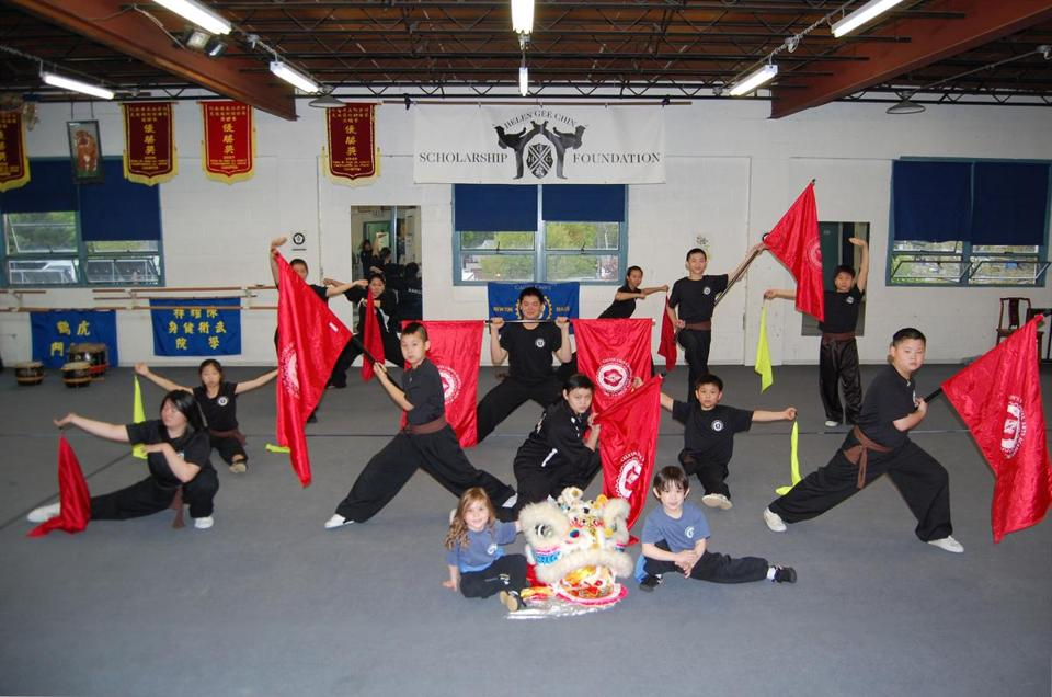 Students of Calvin Chin's Martial Arts Academy will perform a flag dance in honor of Helen Chin on Sunday afternoon.