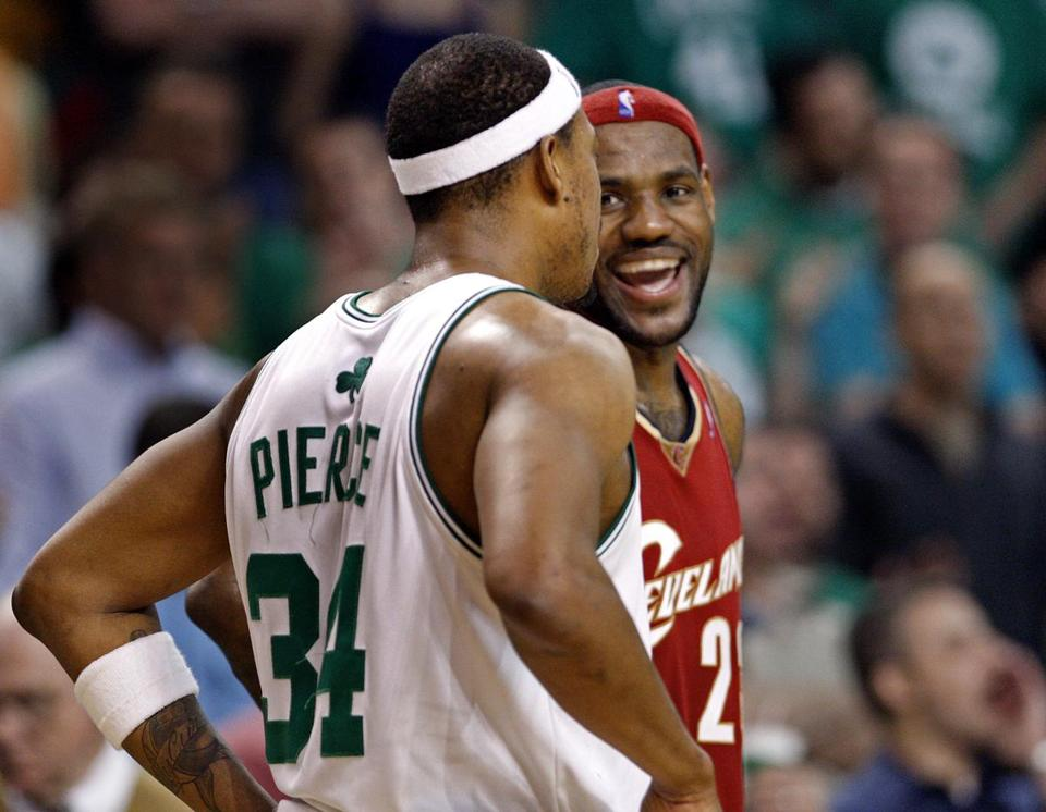 Paul Pierce and the Celtics outdueled LeBron James and the Cavaliers in one of the classic Game 7s in Boston history in 2008.