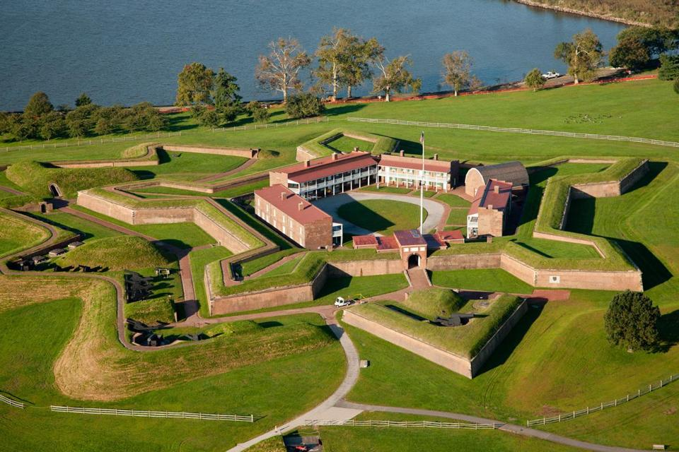 Fort McHenry, built in 1798 on Baltimore Harbor, was bombarded for 25 hours by the British in the War of 1812.