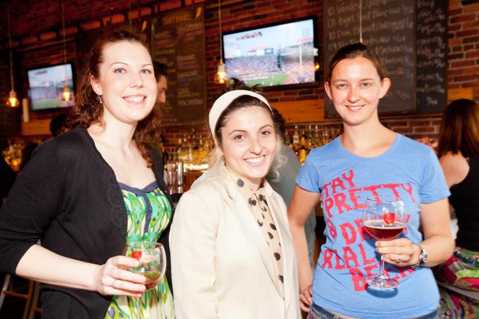 From left: Liz Graham-Meredith, Anya Kanevsky, and Martha Holley-Paquette at a Pretty Things social at Canary Square.