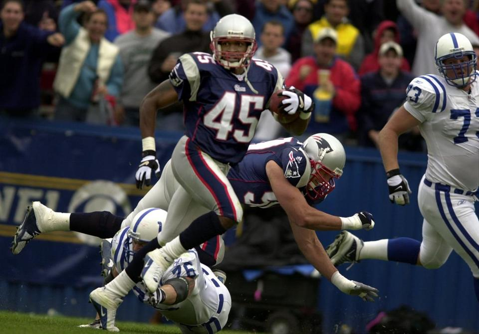 Otis Smith intercepted Peyton Manning and returned the pass 78 yards for a touchdown in the second quarter.