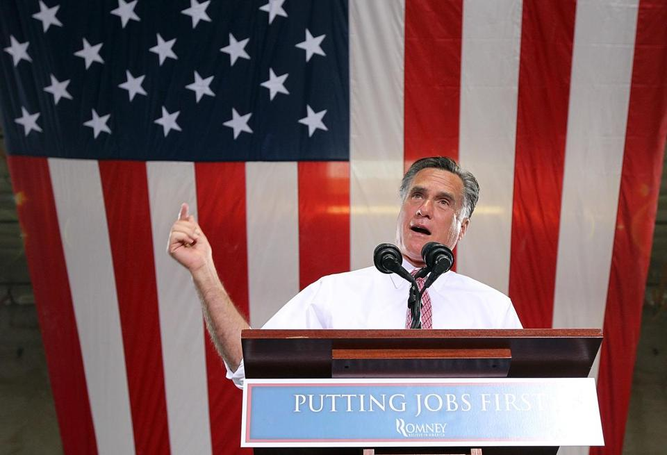 Mitt Romney spoke at a rally Tuesday in Las Vegas, Nev.